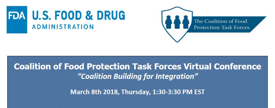 FDA Food Protection Task Force (FPTF) Virtual Conference 2018